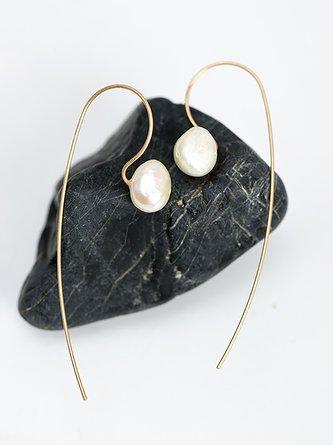Womens Pear Vintage Simple Earrings