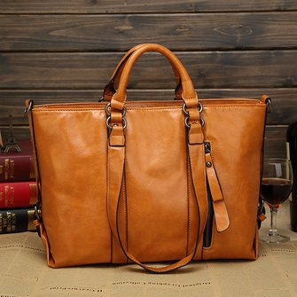 Women High Capacity Stylish PU Leather Messenger Bag Socialite Handbag