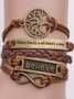 Women Classic Holiday Brown Alloy Casual Bracelets