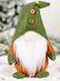 Christmas Decorations Knitted Non-Woven Fabric Standing Faceless Doll Creative Green Santa Ornaments
