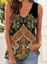Shift Paisley Sleeveless Casual Tank Tops